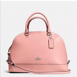 Coach Sierra Satchel Crossgrain Leather BLUSH PINK